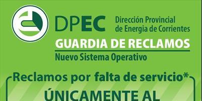 La DPEC habilitó el servicio del 0800-555-3732 en Empedrado y Riachuelo