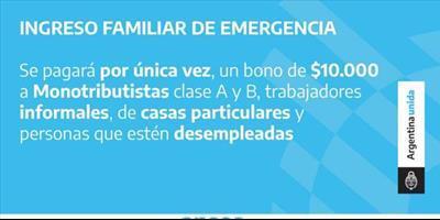 La DPEC colabora con la carga de datos para el Ingreso Familiar de Emergencia