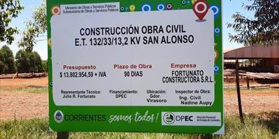 La DPEC inició la construcción de la Estación Transformadora 132/33/13,2 kV San Alonso