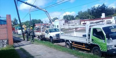 La DPEC continúa ejecutando intensos trabajos de mejoras en Curuzú Cuatiá