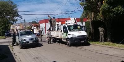 Permanentes tareas de mejoras y mantenimiento del servicio en el interior de la provincia